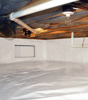 A complete crawl space repair system in Grand Rapids