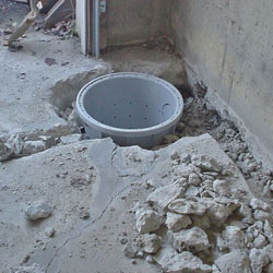 Placing a sump pit in a Ladysmith home