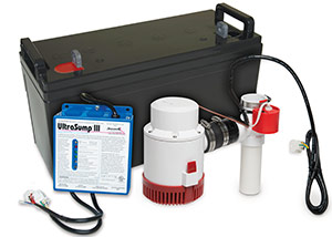 a battery backup sump pump system in Aitkin