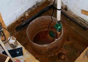 Extreme clogging and rust in a Aitkin sump pump system