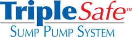 Sump pump system logo for our TripleSafe™, available in areas like Grantsburg