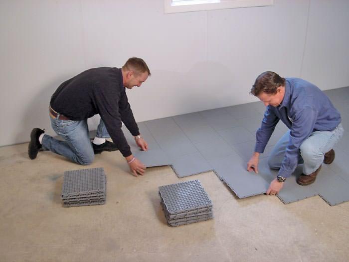 Basement Sub Floor Matting Options In Minnesota And