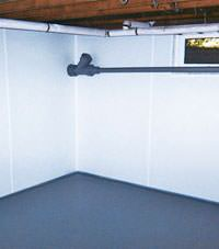 Plastic basement wall panels installed in a Hayward, Minnesota and Wisconsin home