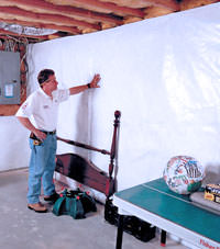 Plastic 20-mil vapor barrier for dirt basements, Hayward, Minnesota and Wisconsin installation