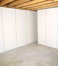 Unfinished basement insulated wall covering in Hayward, Minnesota and Wisconsin
