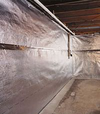Radiant heat barrier and vapor barrier for finished basement walls in Hayward, Minnesota and Wisconsin